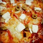 Fully loaded pizza feta and olive
