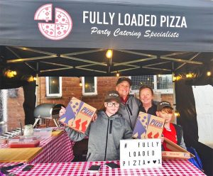 Fully loaded pizza stall
